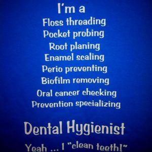 dental hygienist tshirt